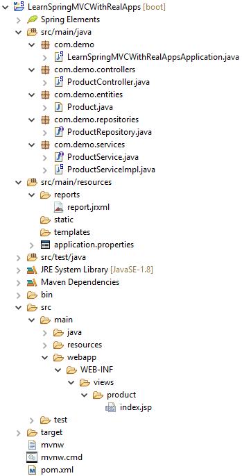 Jasper Report in Spring MVC Framework and Spring Data JPA - Learn