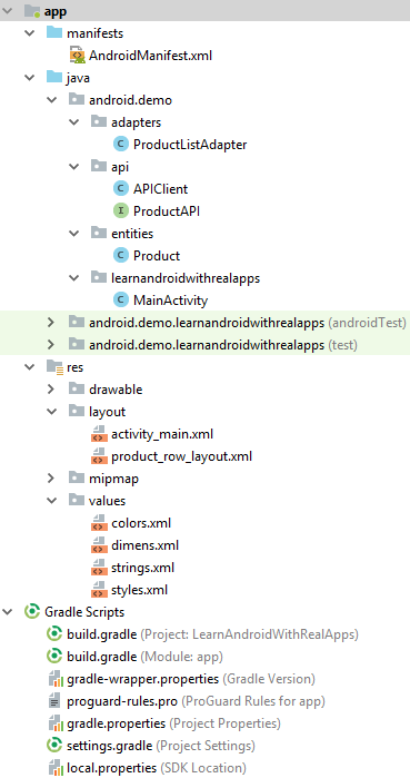 Read Object List from Web API with Retrofit in Android