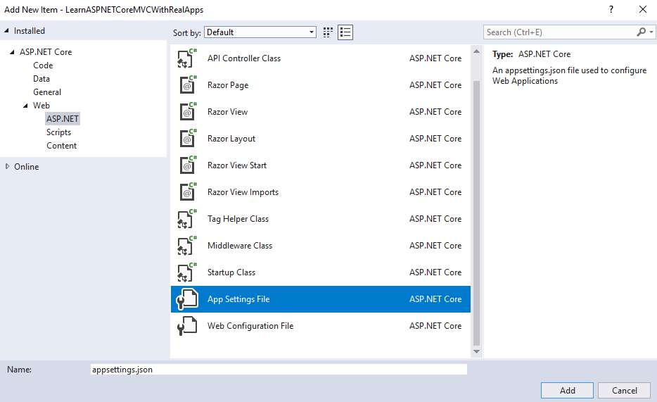 Read Data from Database with Entity Framework in ASP NET Core Web